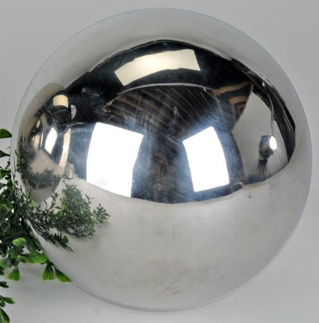 Kugel 20 cm Edelstahl glänzend