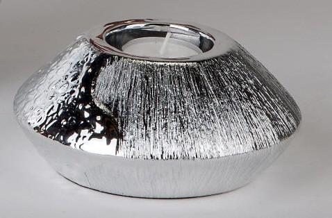 Formano Teelicht Wave-silber 14cm