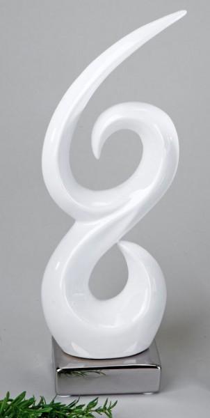 Formano Deko-Objekt weiß-silber 37cm