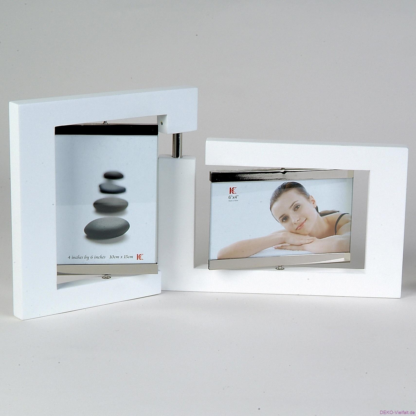formano bilderrahmen holz wei 2 tlg 10 x 15 deko vielfalt. Black Bedroom Furniture Sets. Home Design Ideas