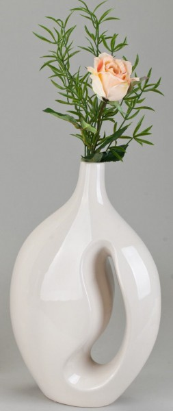 Formano Deko-Vase m. Loch creme 30x45 cm