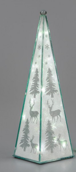 Formano Pyramide Winterzeit mit Licht und Timer 39cm
