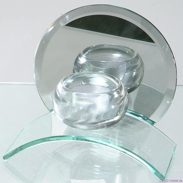 Formano Teelicht ATLANTIS Spiegel rund 14cm
