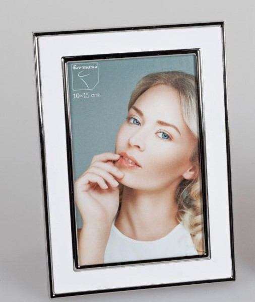 Formano Fotorahmen 10x15 silber - weiß