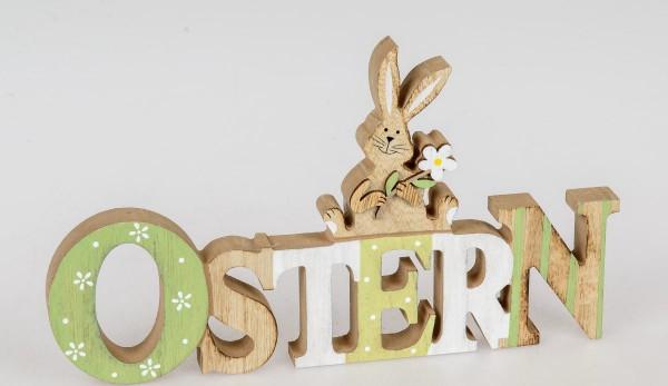 Schriftzug Ostern aus Holz 30 cm