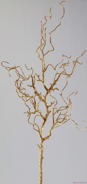Formano Glitterzweig gold 70cm