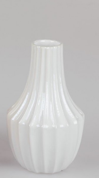 Formano Vase 22cm Sommermix in weiss