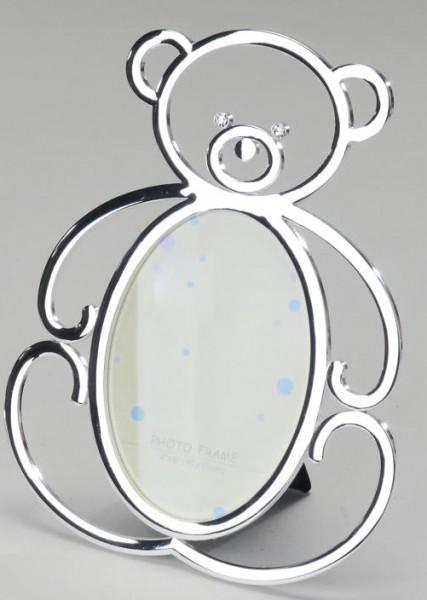 Formano Fotorahmen Teddybär silber 10x15cm