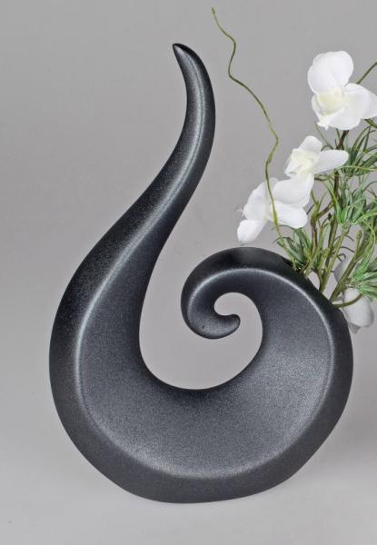 Formano Vase 34cm schwarz