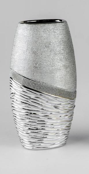 Formano Vase, 19 x 35 cm, Champagner-Stones