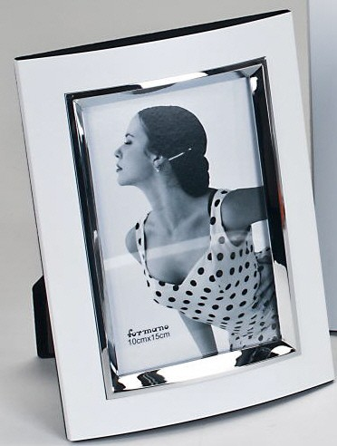 Formano Fotorahmen weiß-silber 15x20cm
