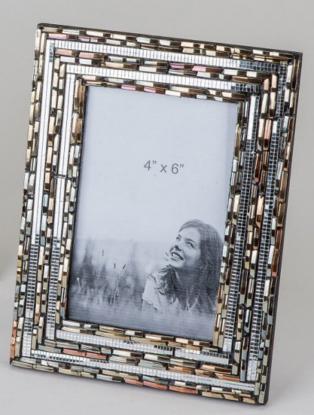 Formano Fotorahmen Silber + Bora Perlen 10x15cm