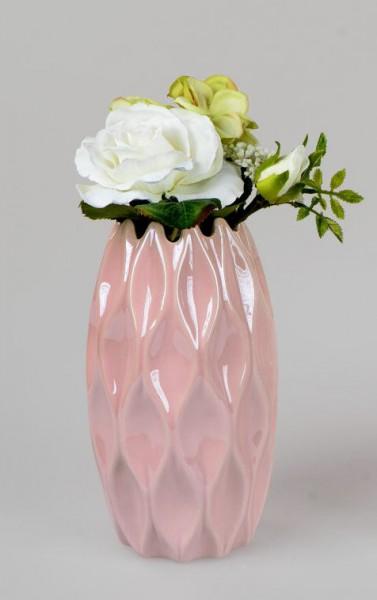 Formano Vase Sommermix, 11x20cm, rosa