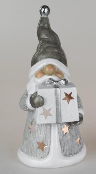 Formano Windlicht Winterfigur Weihnachtsmann 18x35cm