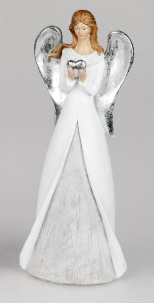 Formano Engel weiss-silber, 14 x 36 cm