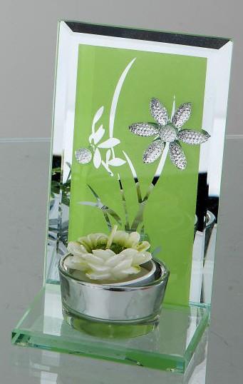 Formano Teelicht Blumen-grün 14 cm