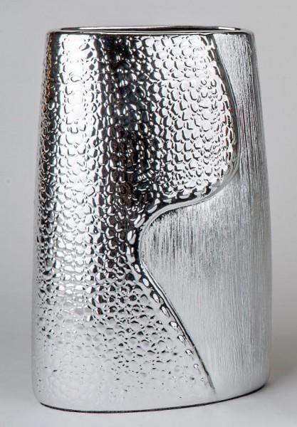 Formano Vase Wave-silber 20x28cm
