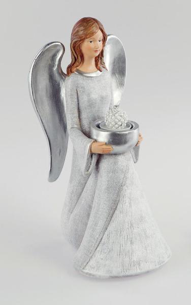 Formano Engel sitzend mit Teelicht 30cm