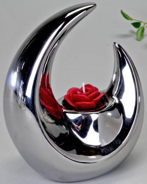Formano Teelichtleuchte silber 18cm