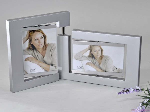 Formano Fotorahmen Holz silber 10x15cm