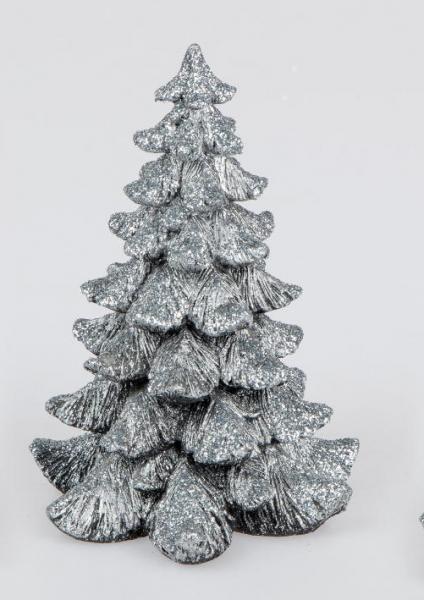 Formano Deko-Baum antik-silber, 11cm