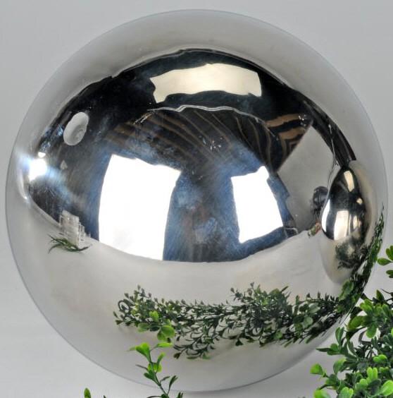 Kugel 25 cm Edelstahl glänzend