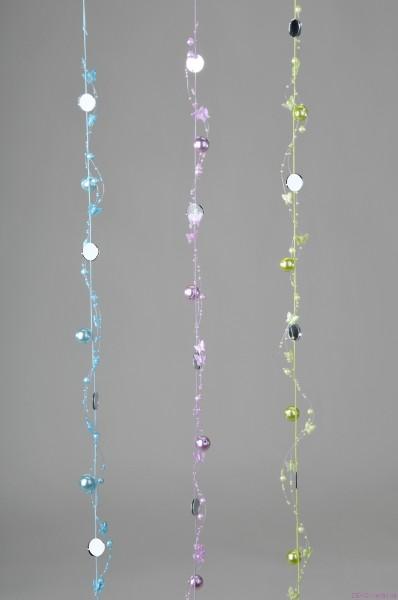 Formano Perlen-Girlande mit Spiegelgrün 100 cm