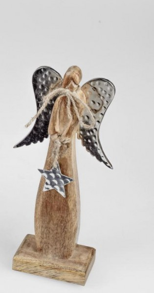 Formano Engel stehend, 28x14cm, aus massivem Mango-Holz