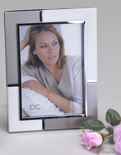 Formano Fotorahmen silber-weiß 13x18cm