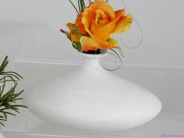 Formano Vase SAMUNGA-WEISS oval 22 cm