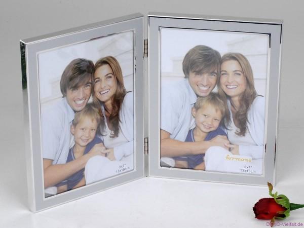 Formano Fotorahmen Duo Silber 13x18cm