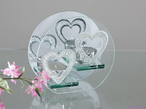 Formano Windlicht Atlantis Hearts 16 cm