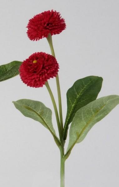 Formano Bellis mit Blatt 25 cm rot
