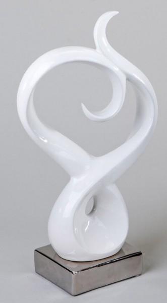 Formano Deko-Objekt weiß/silber 43 cm