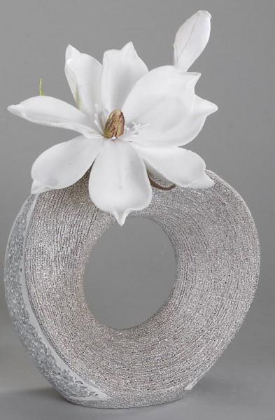 Formano Vase mit Loch Mosaik-Silber 18cm