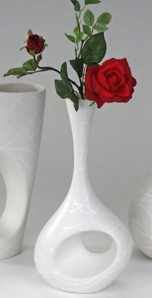 Formano Vase SAMUNGA-WEISS Flaschenvase 31 cm