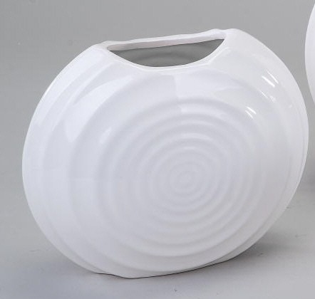 "Formano Vase ""Flunder"" Basic-weiß 19 cm"