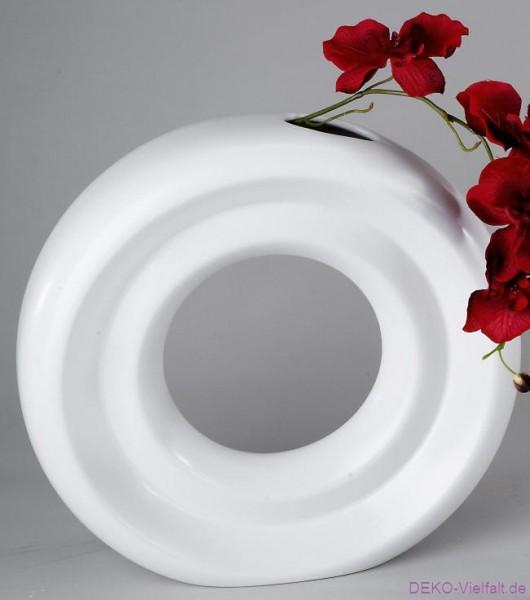 Formano Vase rund weiß 27 cm