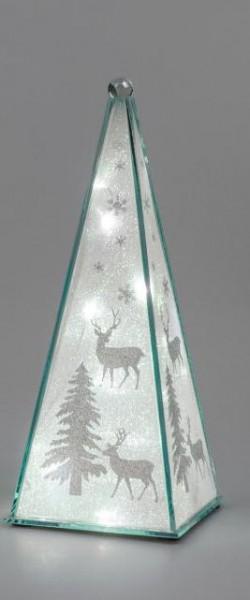 Formano Pyramide Winterzeit mit Licht und Timer 29cm