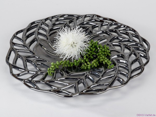 Formano Deko - Schale Platinum 47 cm