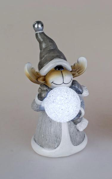 Formano Winterfigur Elch mit LED-Licht und Timer