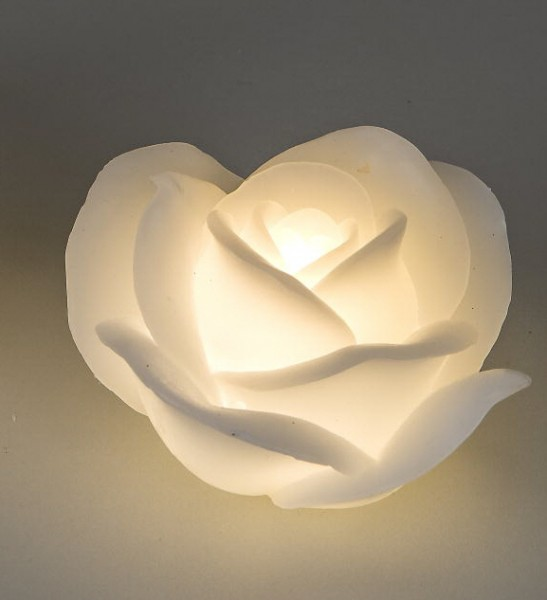 Formano LED-Kerze Rose weiß 11cm