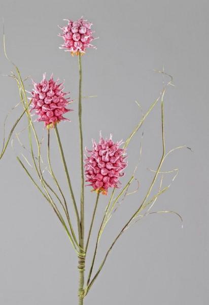 Formano Kugel-Zweig rot, 110 cm, aus Schaumstoff mit 3 Blüten