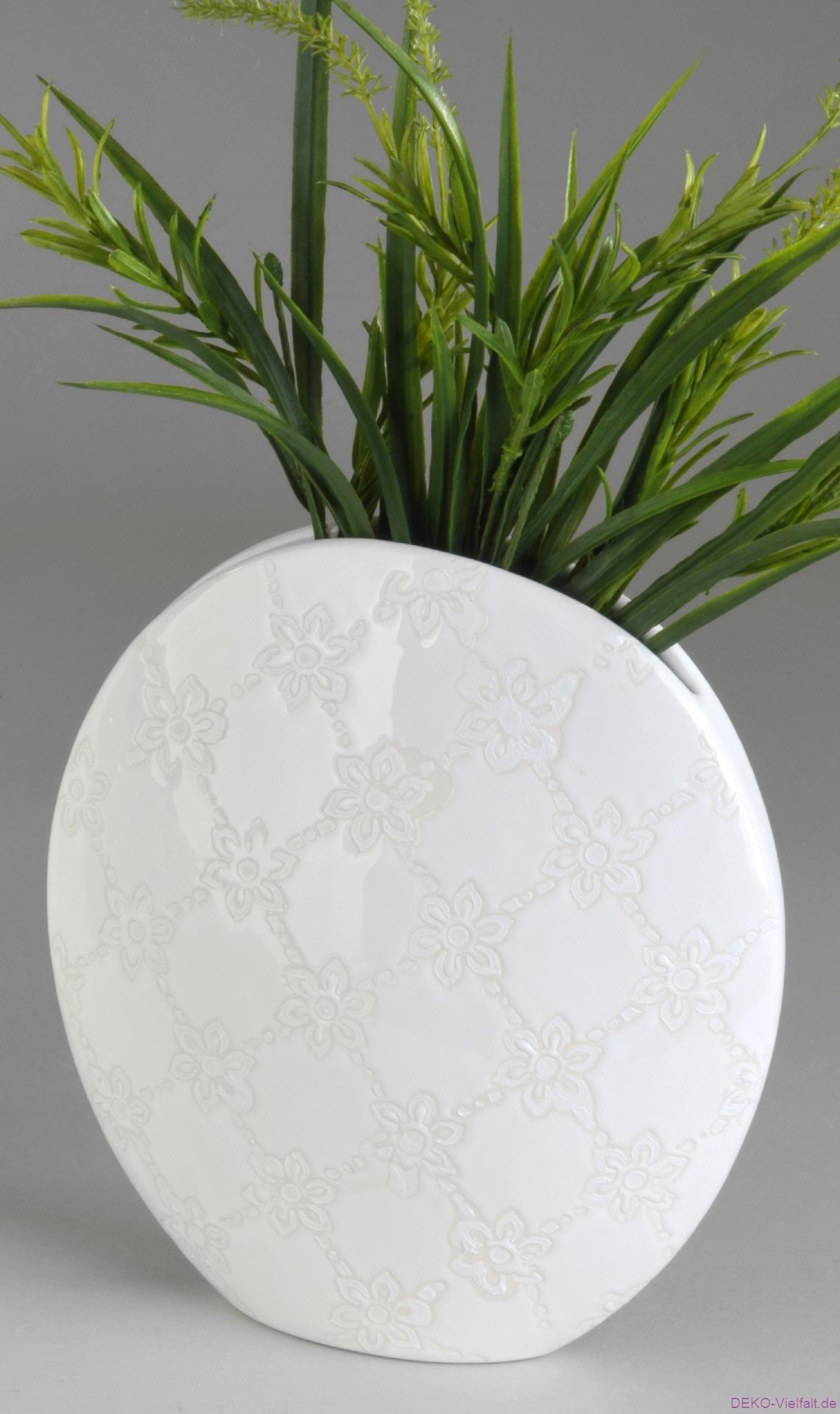 formano vase romantica oval 23 cm deko vielfalt. Black Bedroom Furniture Sets. Home Design Ideas
