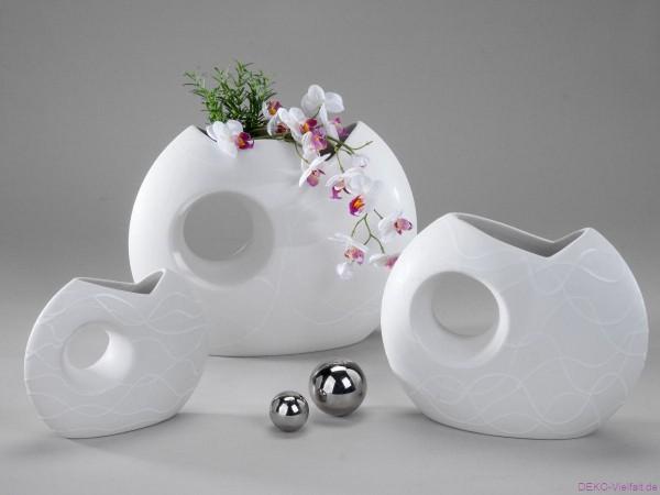 Formano Vase Samunga mit Loch 19 cm