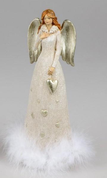 Formano Engel cremefarben 12x27cm aus Kunststein