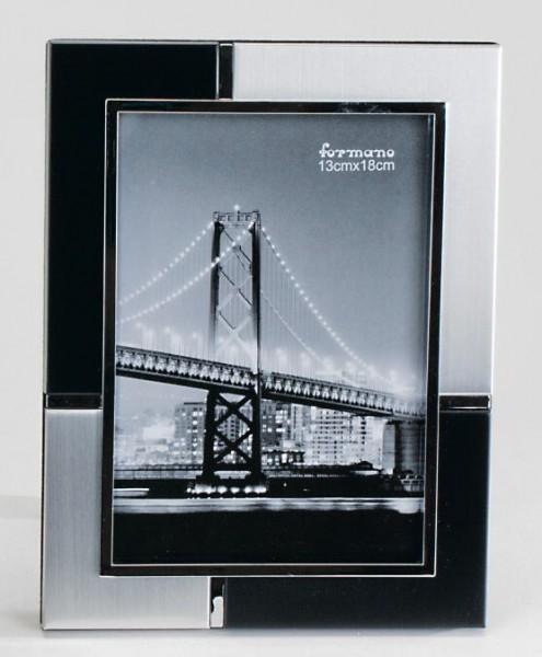 Formano Fotorahmen silber-schwarz 13x18cm