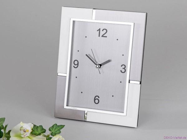 Formano Uhr silber-weiß 18 x 22 cm
