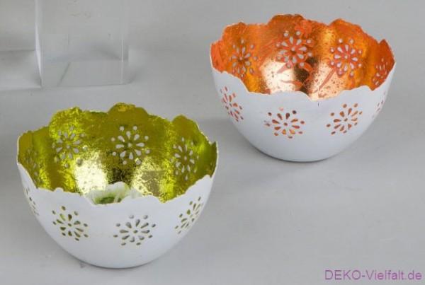 Formano Windlicht Duo Sommer orange 10 cm