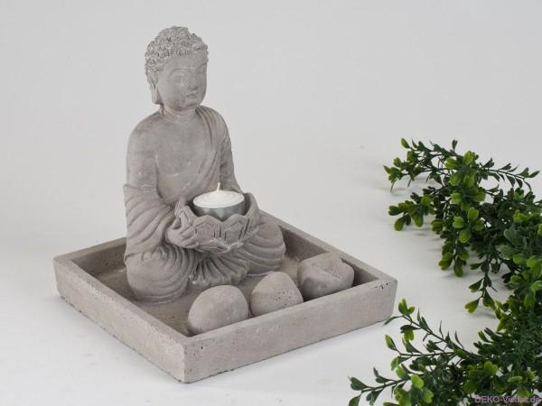 Formano Schale mit Buddha und Teelicht 18 x 20 cm